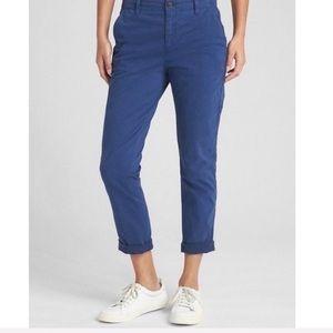 Gap Girlfriend Chinos Deep Cobalt Studded Pants